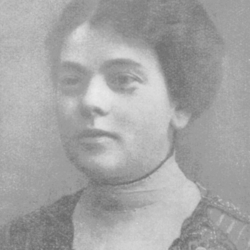 Ida Zimmerman (born Zamenhof), Ludwik's sister, around 1905